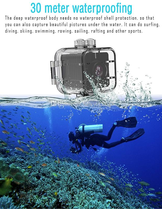 SQ12 Waterproof MINI DV DVR HD 1080P 720P Wide Angle Video Camcorder SQ12 Portable Sport camera with infrared night vision motion detection
