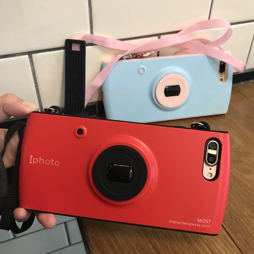pretty nice 14017 0865d Cell Phone Cases Fashion Creative Camera Design Mobile Protect Cover with  Strap Mix Color Cellphone Shell New