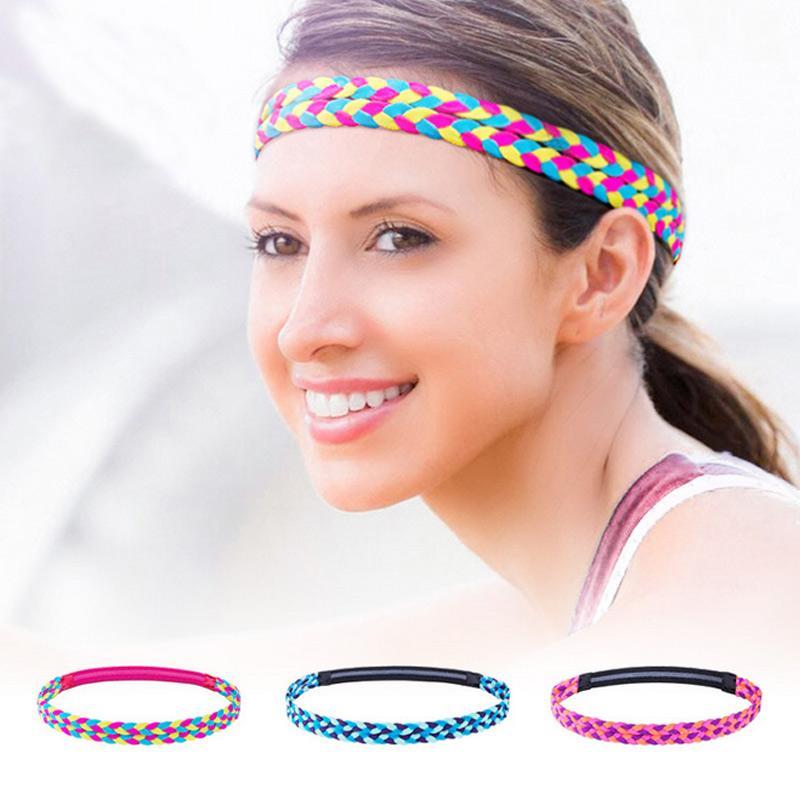 7e225f9eb7 Fascia per capelli per donna Sport Fitness Fascia per yoga Running Ciclismo  Assorbe il sudore antiscivolo Tessuto per capelli Hoop per capelli XR-Hot