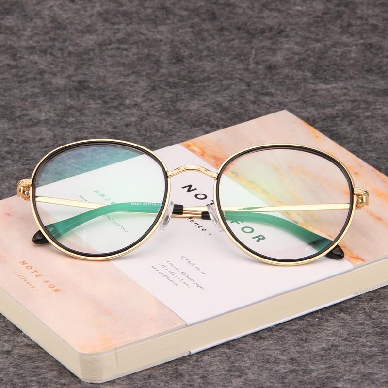 731b141999b 2019 Gold Wood Glasses Frames Clear Lens Glasses Eye For Women Mens Eyewear  Prescription Designer Frames Retro Round 697 From Lbdwatches