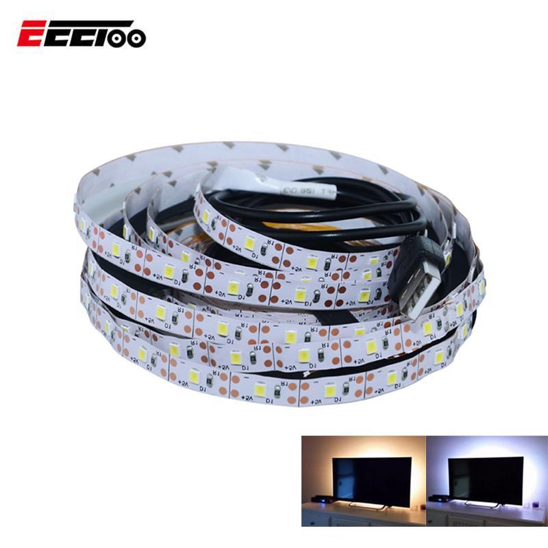 EeeToo 50CM 1M 2M 3M 4M 5M USB LED Strip Light Bed Cabinet Closet Light 1m  2m 3m 5V USB LED Strip Lamp TV Decoration Backlight