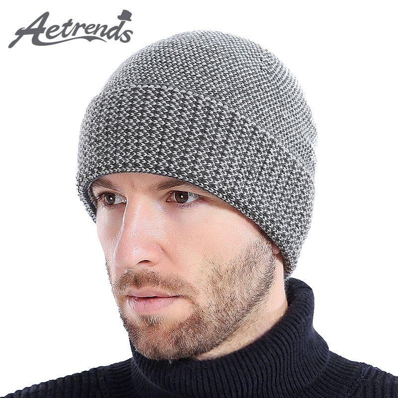 Großhandel aetrends 2017 Neue Winter Wolle Hüte Für Männer Warme ...