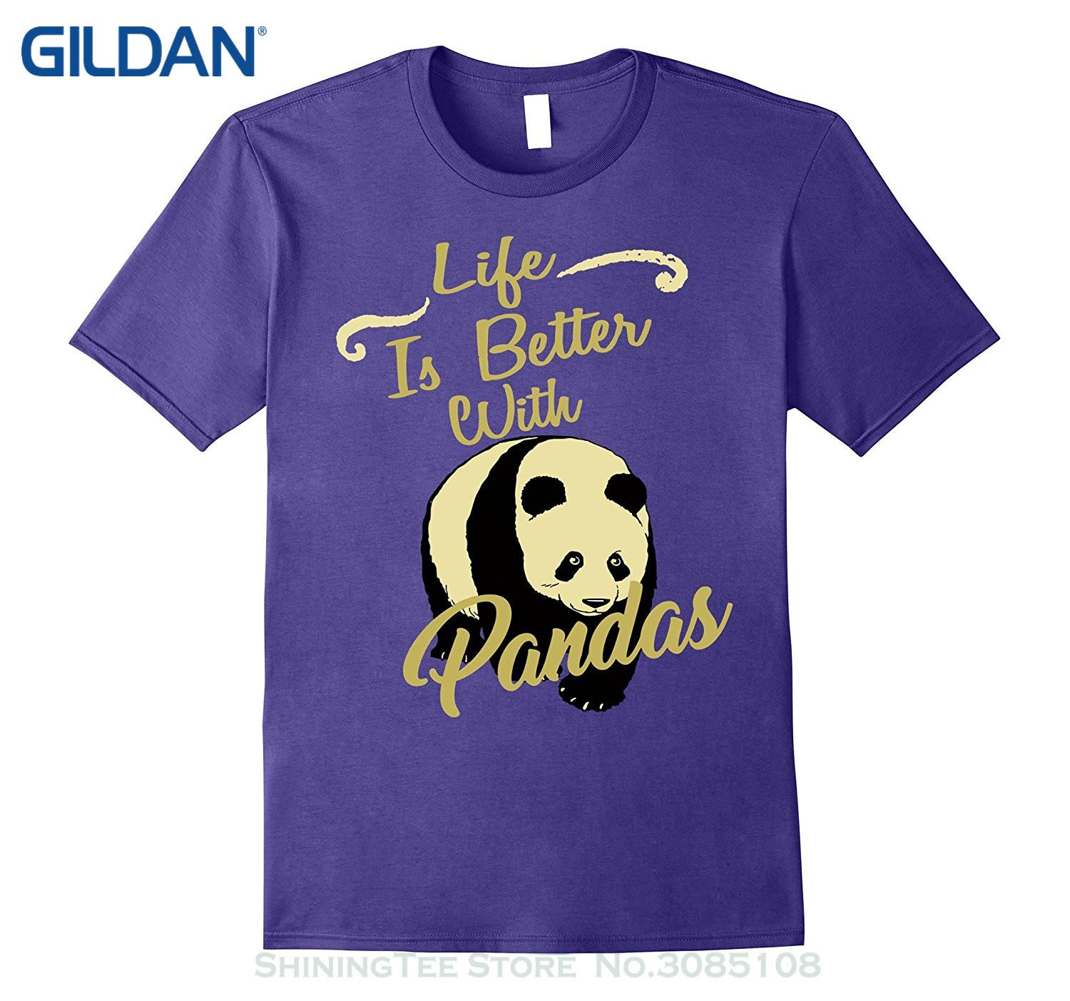 c497e50efd09c Wholesale discount Tees Men s Clothing Big Size:s xxl Life Is Better With A  Panda Animal Fly Cloud Hot 2019 Shirt
