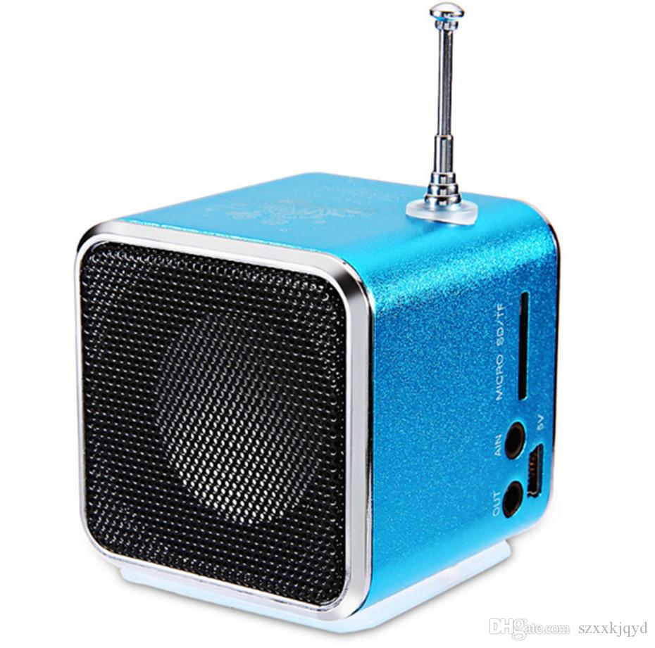 TD-V26 Digital portable Speaker Mini Speaker MP3 Player USB Disk Micro TF Player FM Radio FM For iPhone PC MP3 /4 with LCD Screen