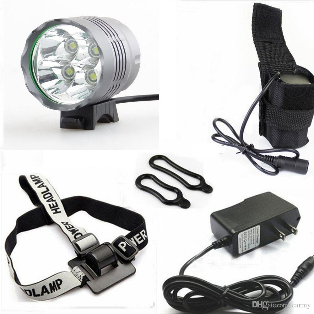 Best Wholesale 5000 Lumen Bike Light 4xcree Xm L T6 Led Bicycle High Power Headlamp Cree Lumens Black Accessories Mountain Bicicleta 84v 18650 Battery Pack Charger Under 4309