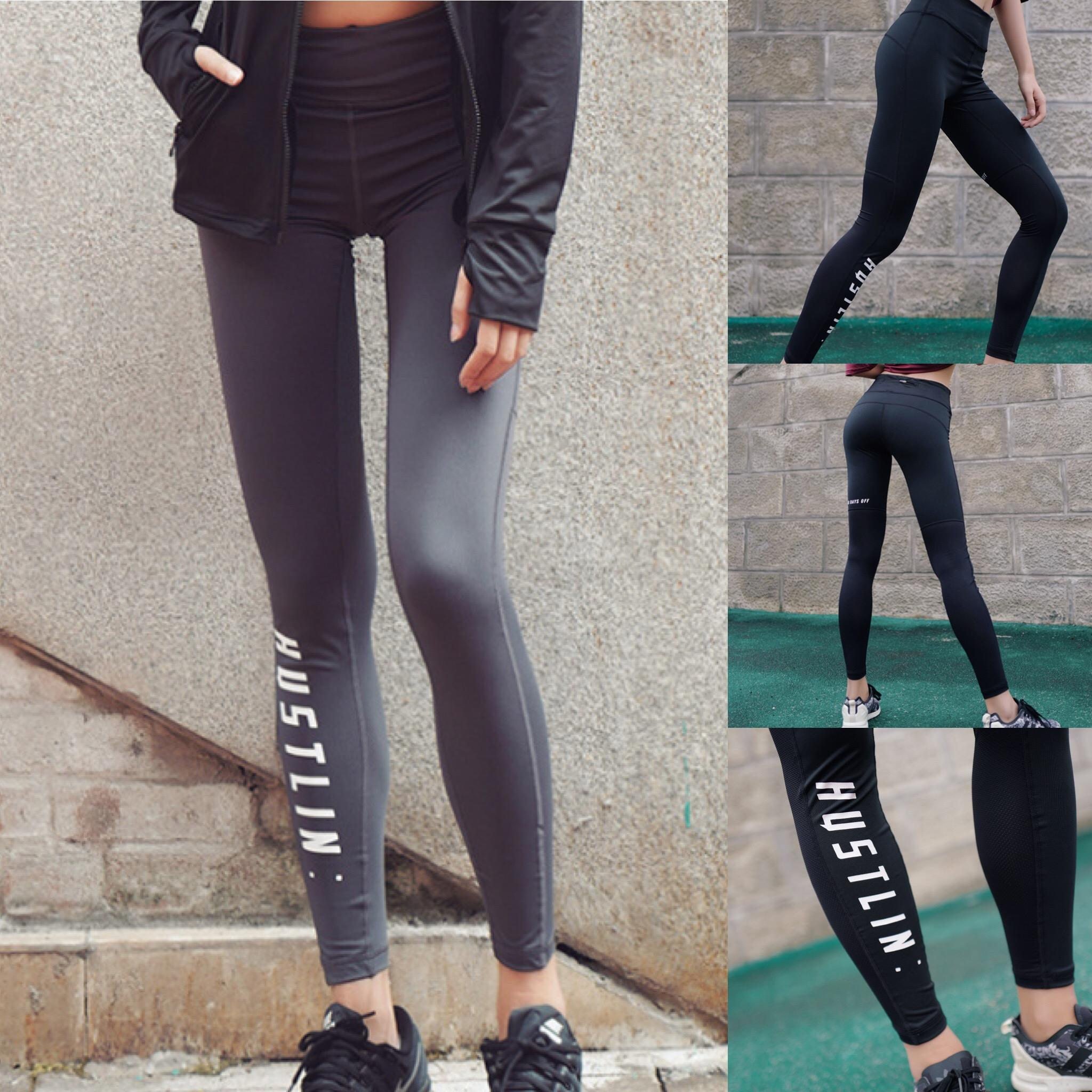 1e0838a70f28 2019 New Sports Leggings Yoga Pants Letter Printed Style Women Sexy Hip  Push Up Pants Fitness Workout Gym Jogging Trousers From Szghhcool