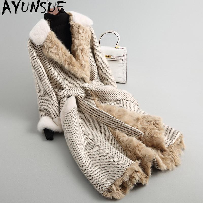 Coat Acquista Blend Long Tweed 2018 Wool Ayunsue 0qnTrwq6I4