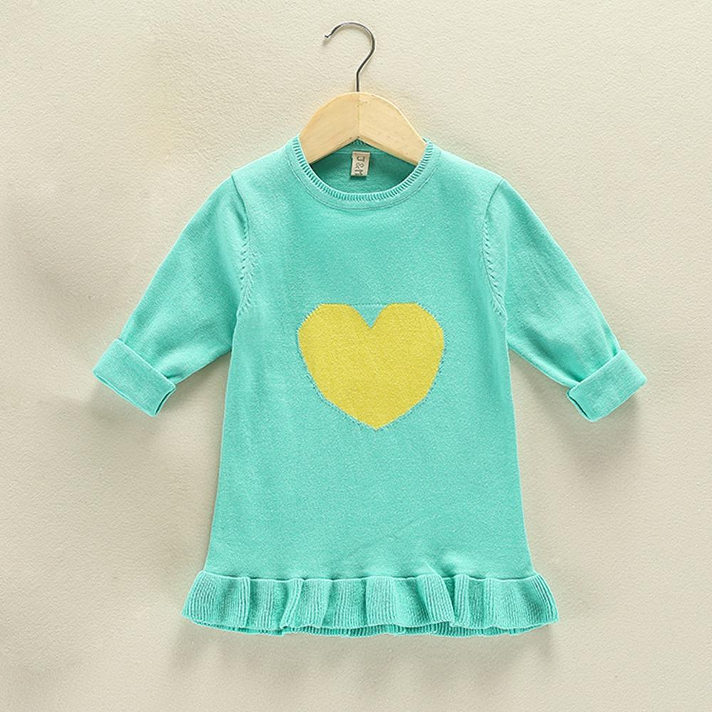 e683b95a2 JN316 Winter Heart Shaped Pattern Kids Sweater Girls Sweaters Baby ...