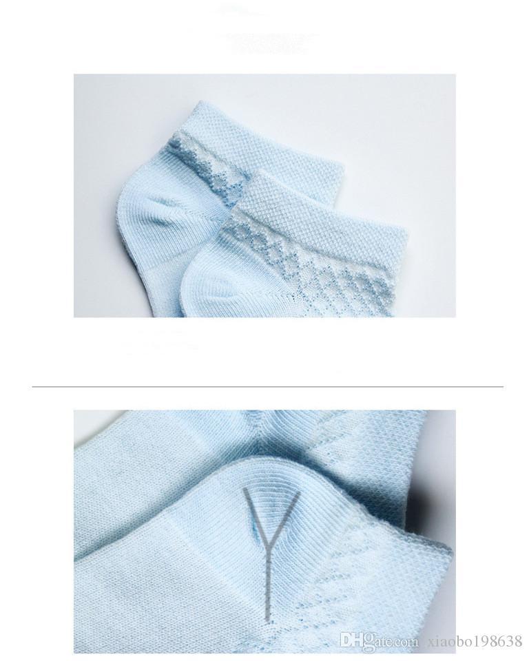 Kindersocken Frühling Sommer Neue Jungen Mädchen Baumwolle Dünne Atmungsaktive Baby Mesh Socke weich für neugeborene Kleinkinder