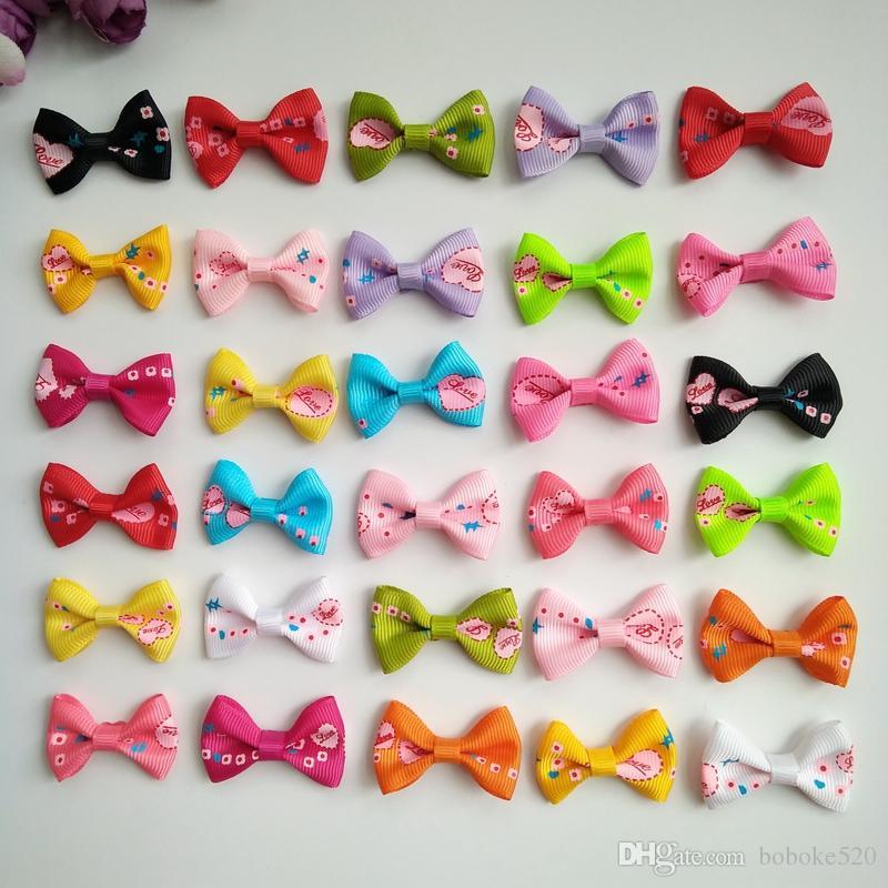 952029234562 1.4inch Handmade Cute Bowknot Kids Baby Children Hair Clip Bow Pin ...