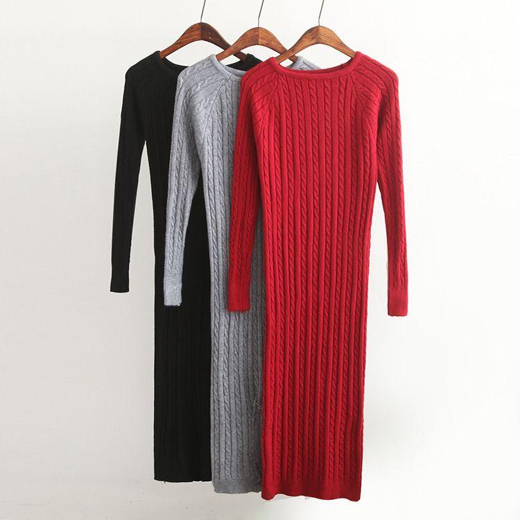 60b0720a New Twist Women Long Sweater Dress 2018 Spring Sexy Slim Bodycon Dresses  Elastic Skinny Split Dress Brief Knitted Dress Vestidos Online with  $36.53/Piece on ...