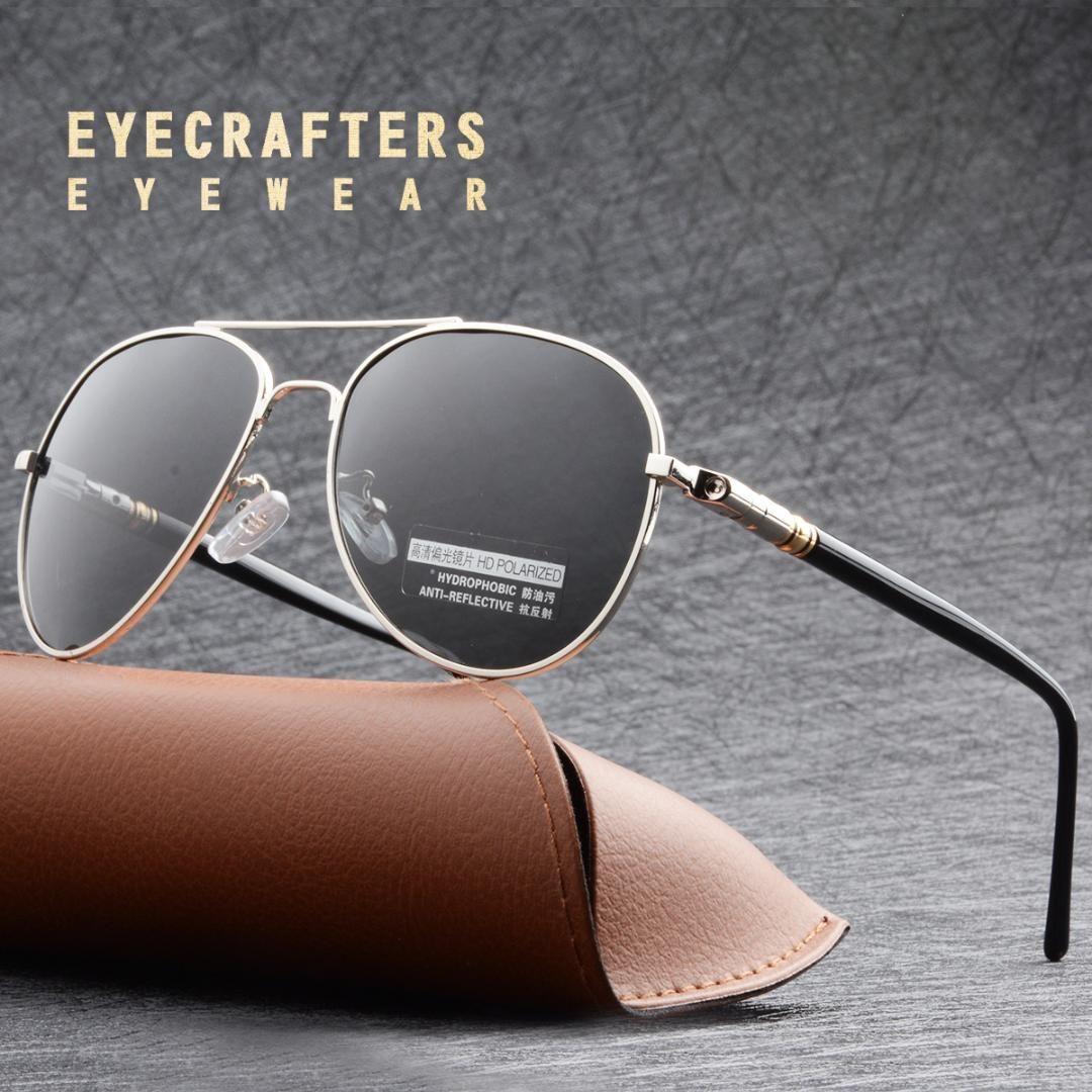 836a424401 Eyecrafters polarized driving mirrored pilot mens sunglasses metal jpg  1080x1080 Driving mens sunglasses metal