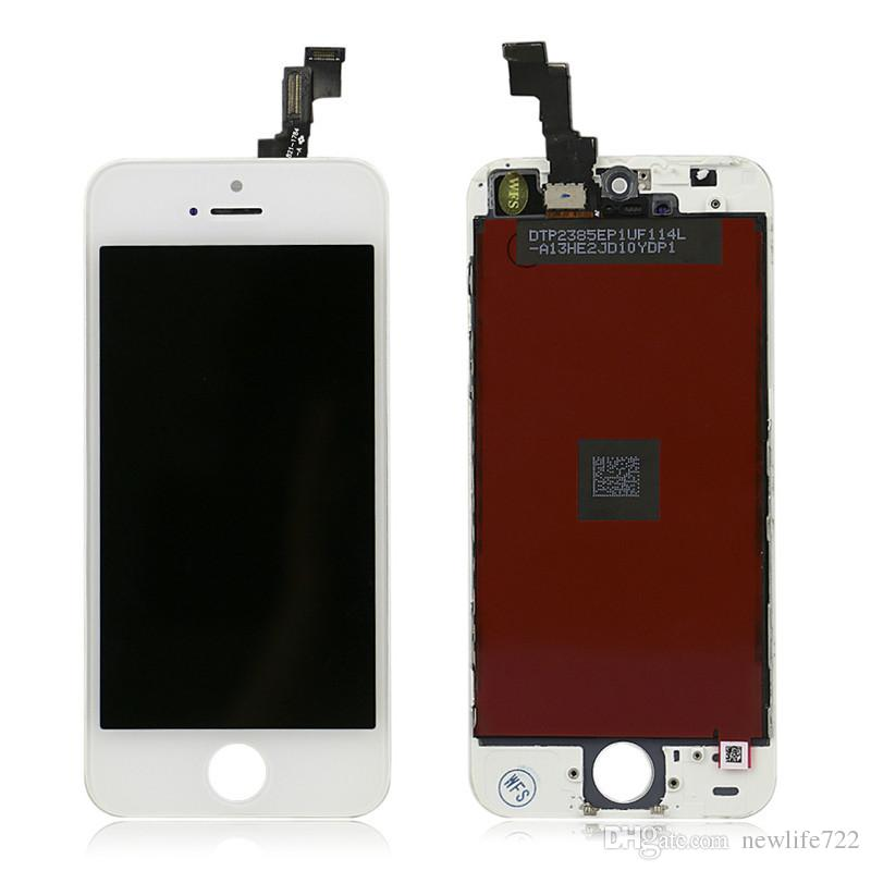 High Quality For Iphone 5S Display With Touch Screen Digitizer LCD + Frame Full Assembly 4.0inch Cellphone Repair Parts DHL