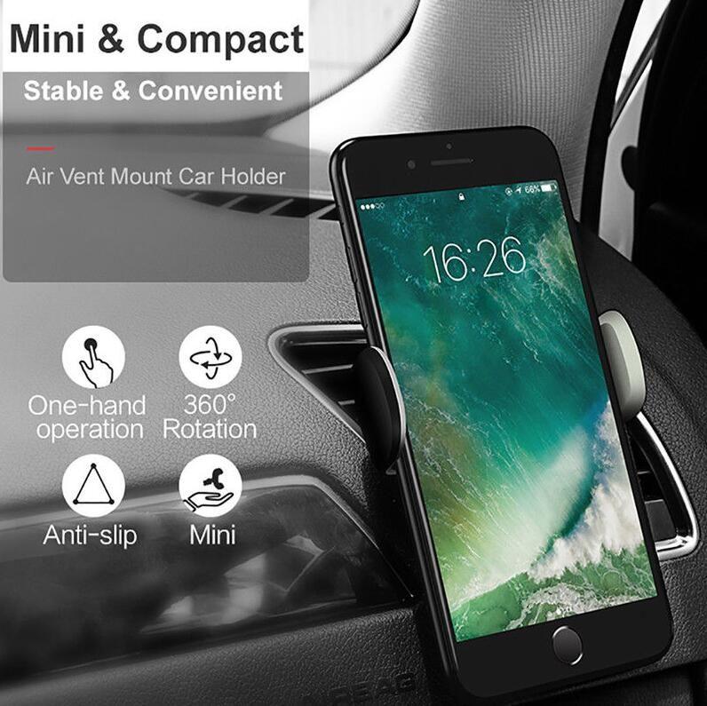 Автомобильный держатель телефона вентиляционное отверстие 360 градусов повернуть крепление мобильного телефона сцепление безопаснее вождения для iP х 8 6 дюймов универсальный телефон 2018