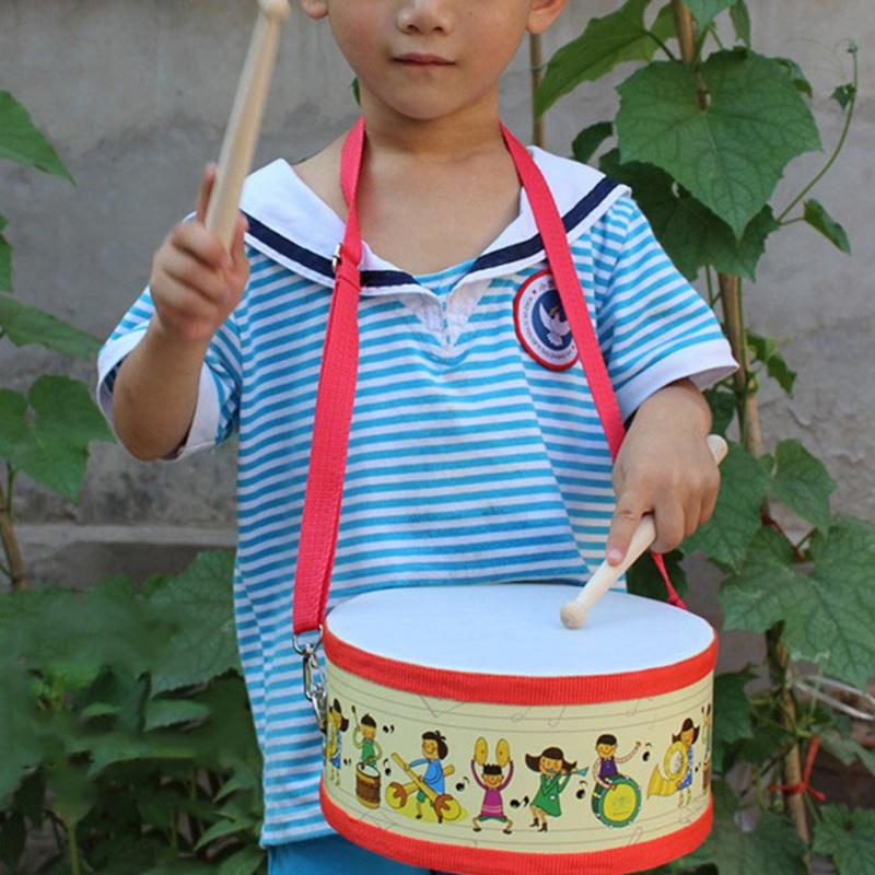 Davul Ahşap Çocuklar için Erken Eğitim Enstrüman Çocuk Bebek Oyuncakları Yendi Enstrüman El Davul Oyuncaklar