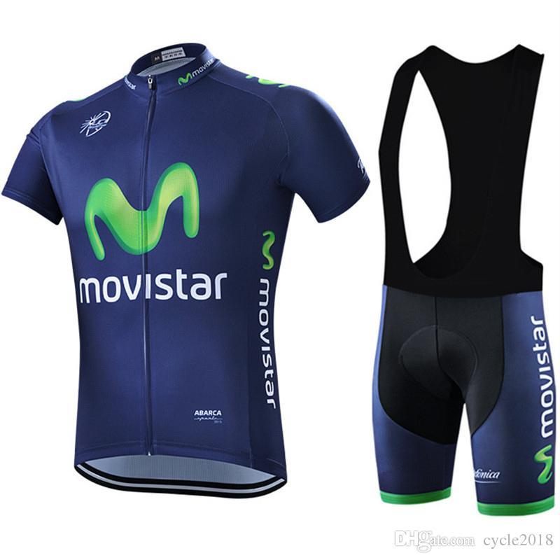 Maglie da ciclismo Movistar Set maniche corte Traspirante Anti UV Abbigliamento da bici Abbigliamento sportivo da bicicletta Quick Dry 9D pad in gel Cycling Bib Pant Ropa