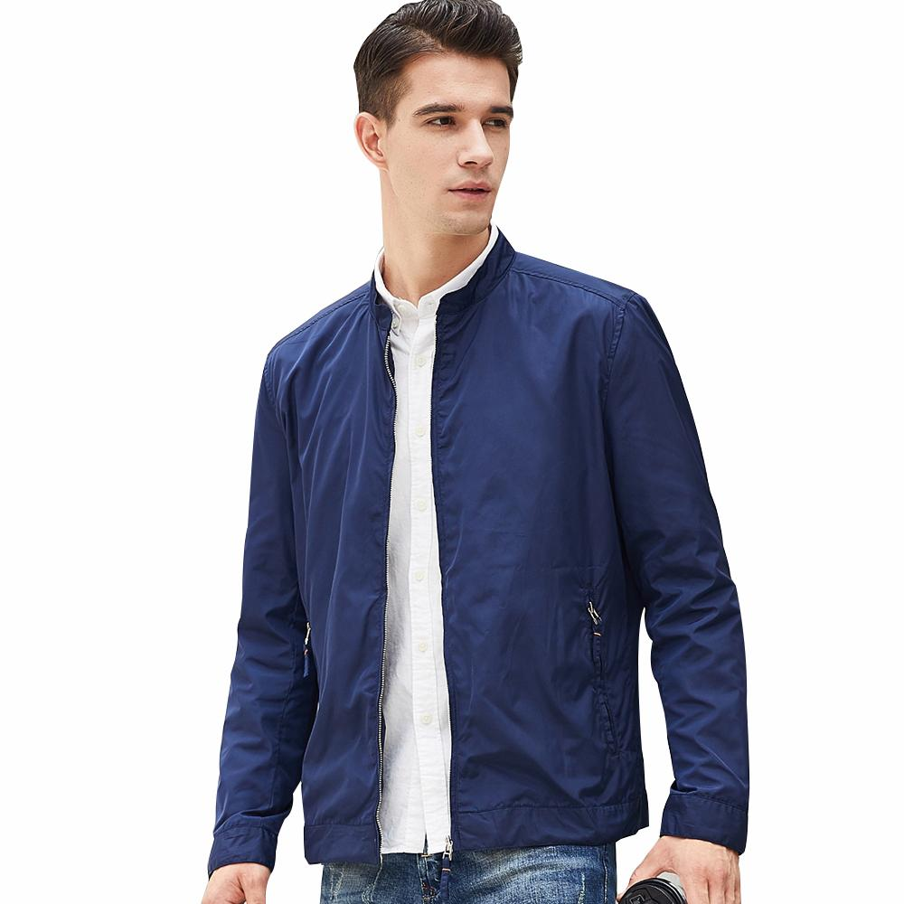 5cabbfdf6bd Beverry 2018 Spring Autumn Men Jackets Casual Solid Fashion Slim ...