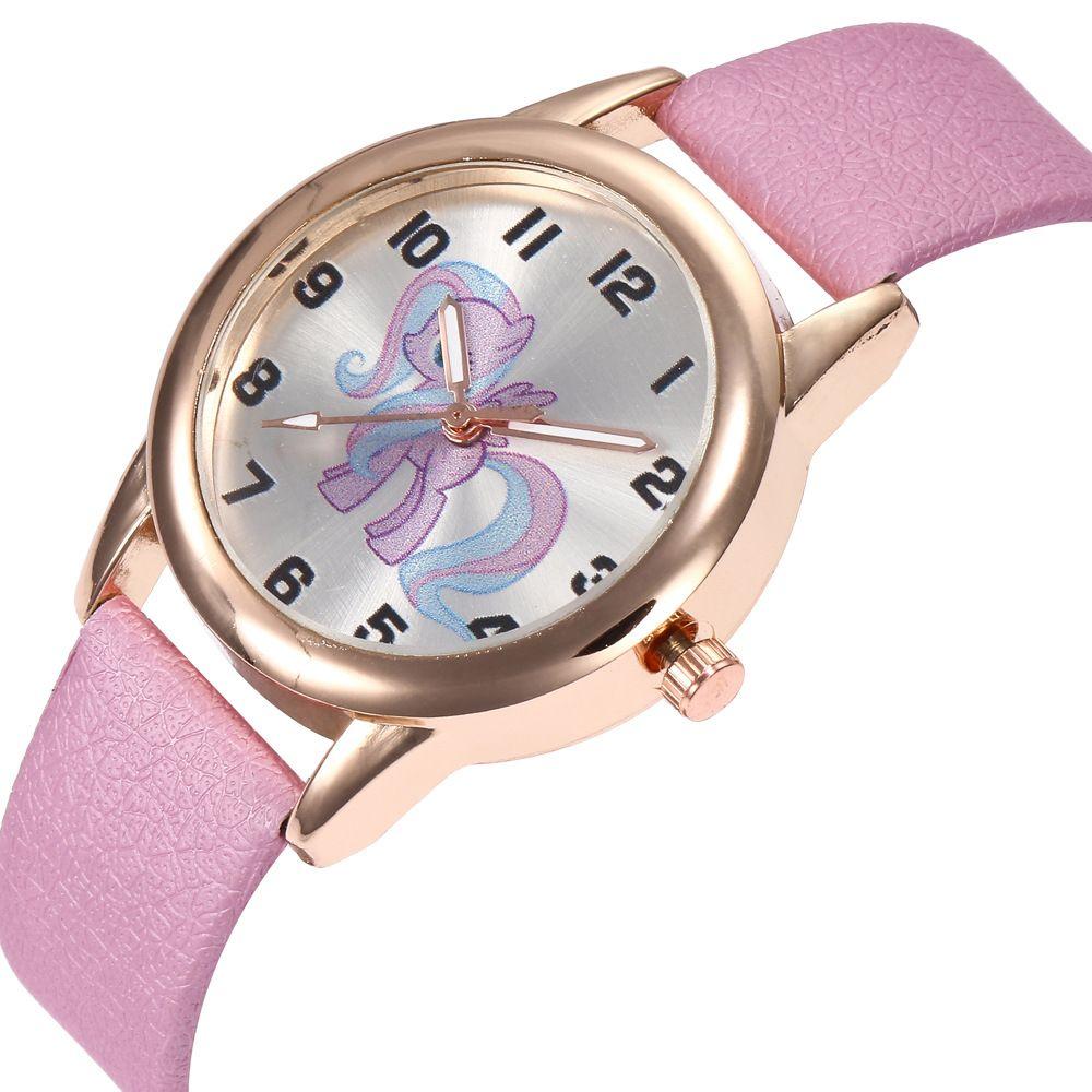 b6331a46956 Casual Cartoon Unicorn Print Relogio Digital Gold Alloy Dial Leather Strap  Ladies Couples Sports Quartz Watch Women Watches C981 Shop Watches Online  ...