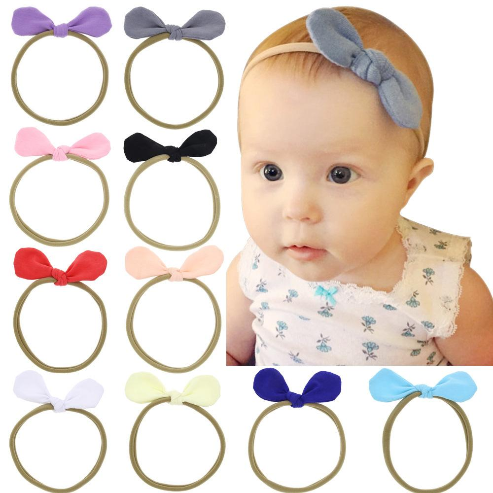 Children Elastic Force Hairband Solid Color Sweet Simple Children Headbands  Soft Hairband Multicolor Baby Gift Black Hair Accessories Flowers Hair ... cbd3b52b0aa