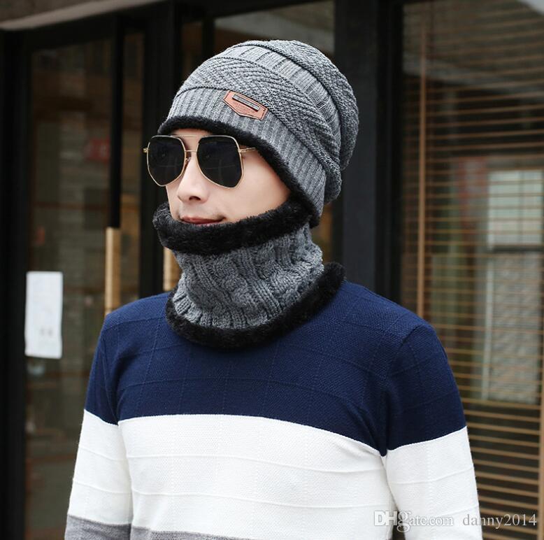 95b19b658a3 2019 Winter Knitted Hat Beanies Men Women Scarf Caps Mask Gorras Bonnet Warm  Baggy Winter Hats For Men Skullies Beanies Hats From Danny2014