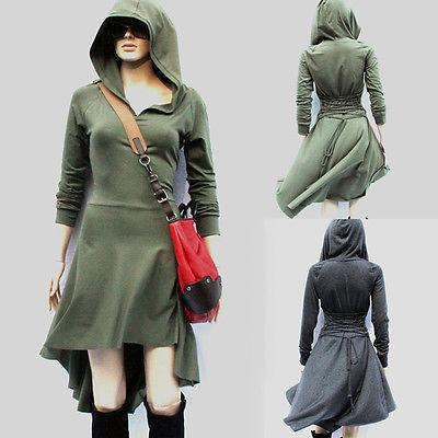 5692f5f7a38 Fashion Women Long Sleeve high low Hoodie Dress Club Party Mini Casual Day  Dresses Solid Autumn Winter