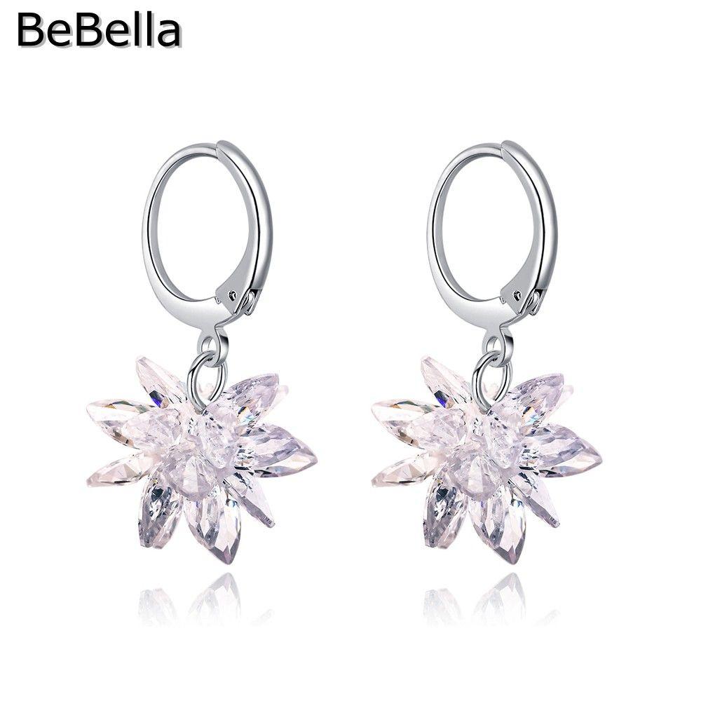 BeBella Edelweiss Dangler Drop Earrings Made With Cubic Zirconia ... 34da0349c721