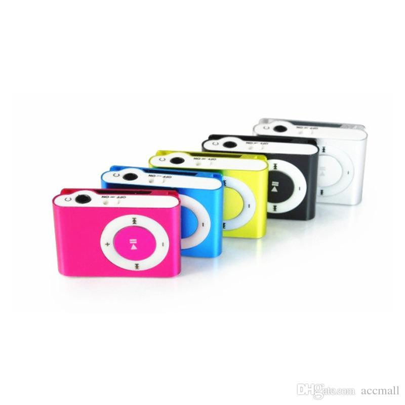 Mini Metal Clip MP3 Player Colorful Sports Music Player with Micro SD/TF Card Slot No Memory Card without Earphone USB Cable Retail Box