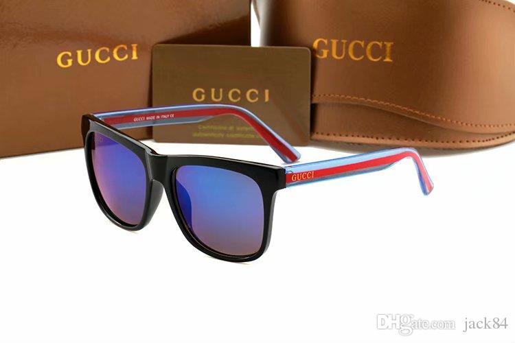 4e3363fa63697 Compre Moda Óculos De Sol Das Mulheres Dos Homens Óculos De Sol Marca  Designer Justin Espelho Gafas De Sol Designer De Marca Masculino Óculos Com  Casos De ...