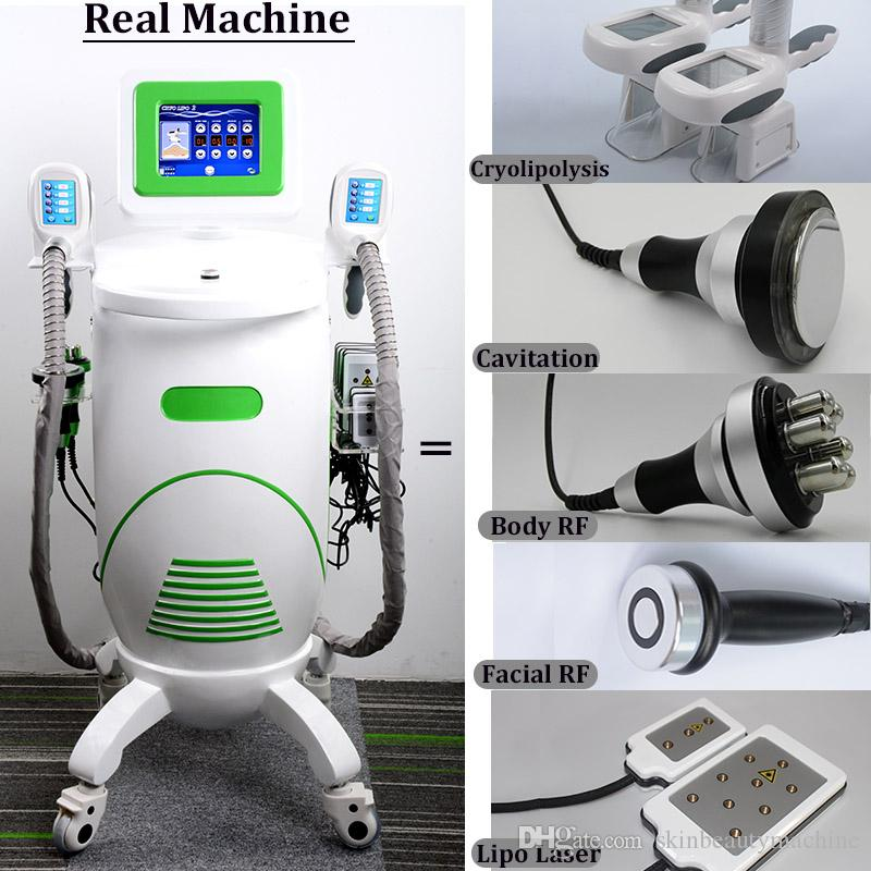 2019 Vertical Cryolipolysis Cryo Machine Freeze Fat Body Contouring Slimming Multifunctional Lipo laser Cavitation Cryotherapy Device