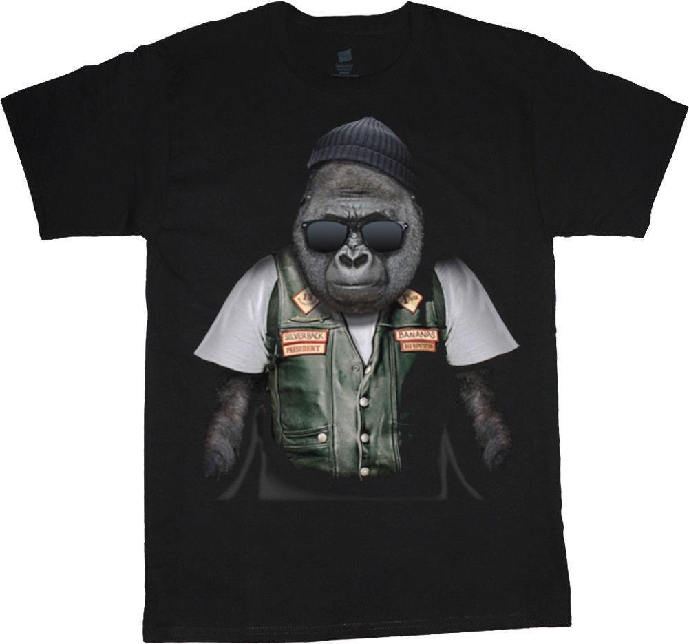 5e0aace7 Biker Ape Funny T Shirt For Men Biker Gifts Graphic Tees For Men Gorilla  Design 2018 Short Sleeve, O Neck 100% Cotton, Print Mens Summer, T Shirts  With ...