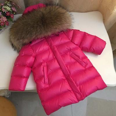 00d45bb2b Kid Boys Girls Waterproof Real Raccoon 100% Fur Collar Jacket ...