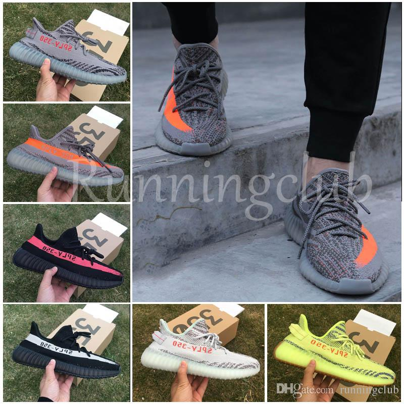2018 Sply 350 Boost 350 V2 Men Beluga 2.0 Black Beige Blue tint Bred Cream Zebra Black Copper Running Shoes Sport Sneakers
