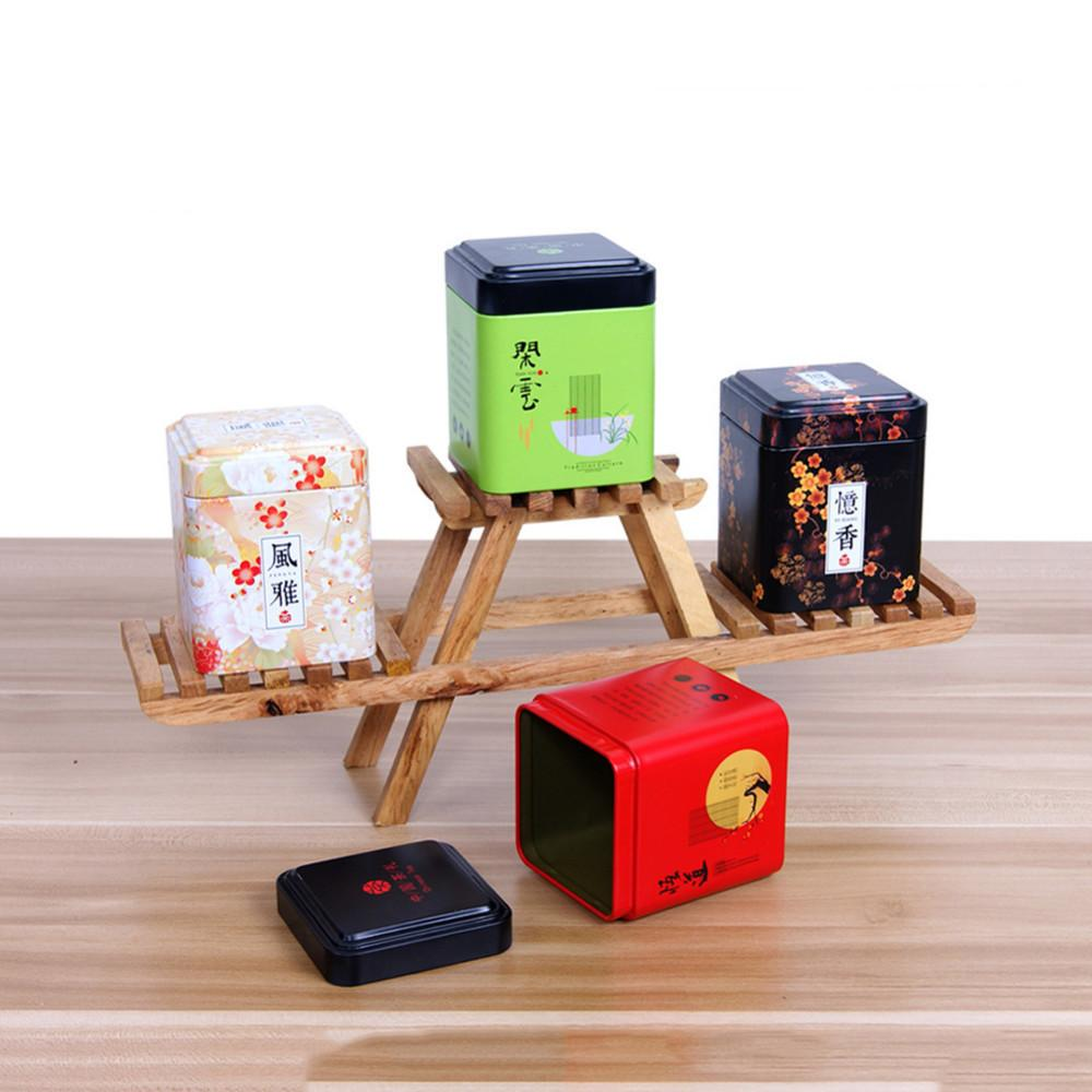 2018 Torage Boxes U0026Amp; Bins Vintage Beautiful Colorful Mini Tin Storage Box  Small Square Sealed Coffee Tea Caddy Tea Leaves Iron Box Tinplate.