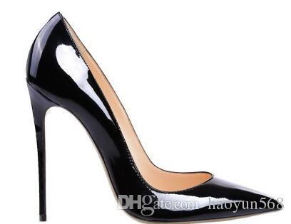Escarpins en cuir verni Pigalle Talons FEMME chaussures de mariage bout pointu talons aiguilles sexy femme rouge noir, talons hauts Violet, peau de mouton 35-44