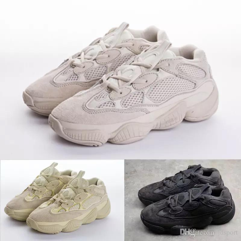 9e94a52fb0f91 2019 With Box2018 New 500 Blush Desert Rat Kanye West 500 Yung 1 Wave  Runner 500 Sneakers Running Mens Shoes Designer Shoes From Jdsport