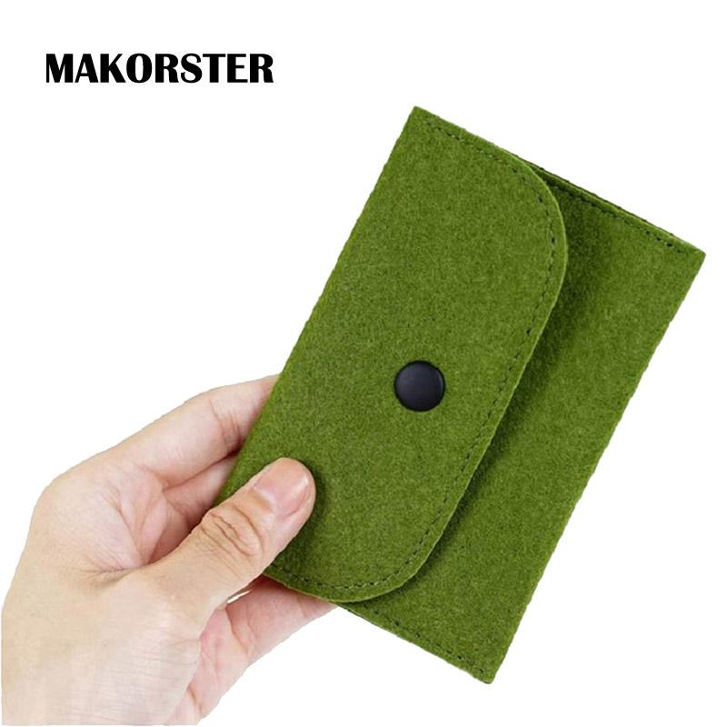 Makorster felt fabric id card holder bag business card holder men makorster felt fabric id card holder bag business card holder men and women credit wallet female passport cover xh163 unique wallets black leather wallet colourmoves