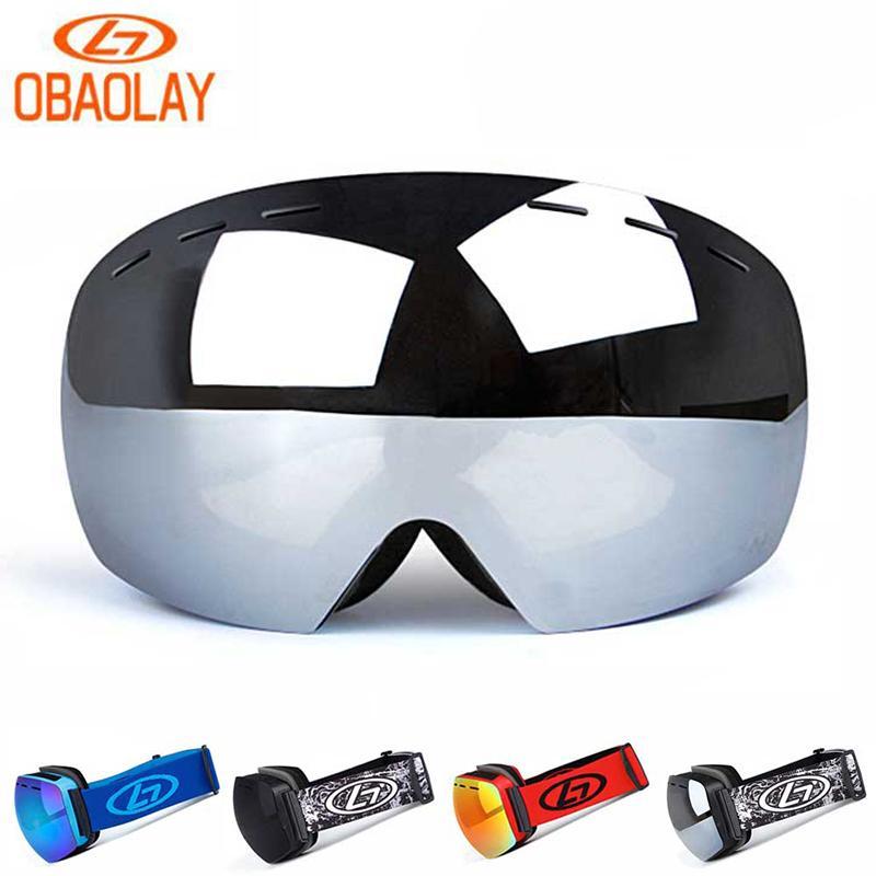 96cd5e365ec 2019 OBAOLAY Frameless Ski Goggles Double Layer Lens UV400 ...