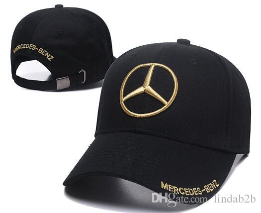 ca9453615e22f 2019 New Sale Mercedes Benz Bone Gorras Snapback Hat F1 Champion ...