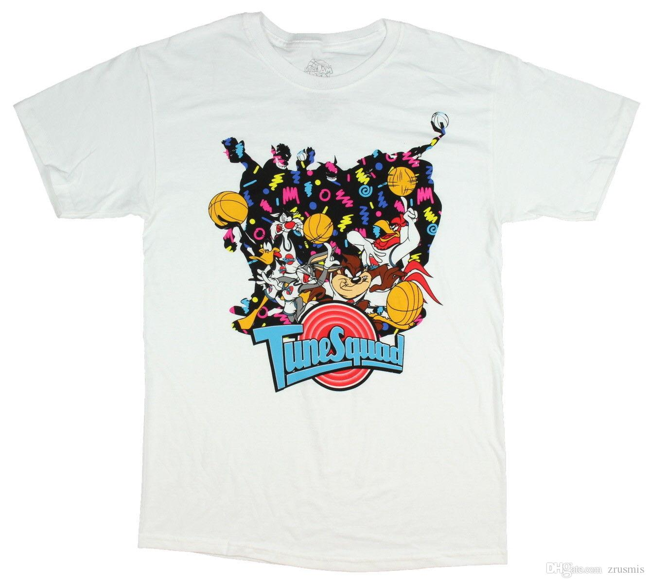 c9e9a5548164 Looney Tunes Space Jam Shirt Tune Squad Men S Movie Poster T Shirt Medium  Best Funny Shirts Funny Print Shirts From Zrusmis