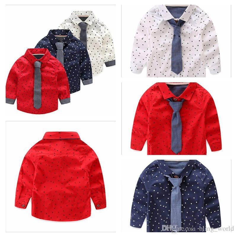 5022aa822 2019 Baby Boy Clothes Boys Star Print Shirts Long Sleeve Kids Shirts  Fashion Tops Tee Casual T ShirtS Toddler Cotton Shirt Kids Clothing YL310  From ...