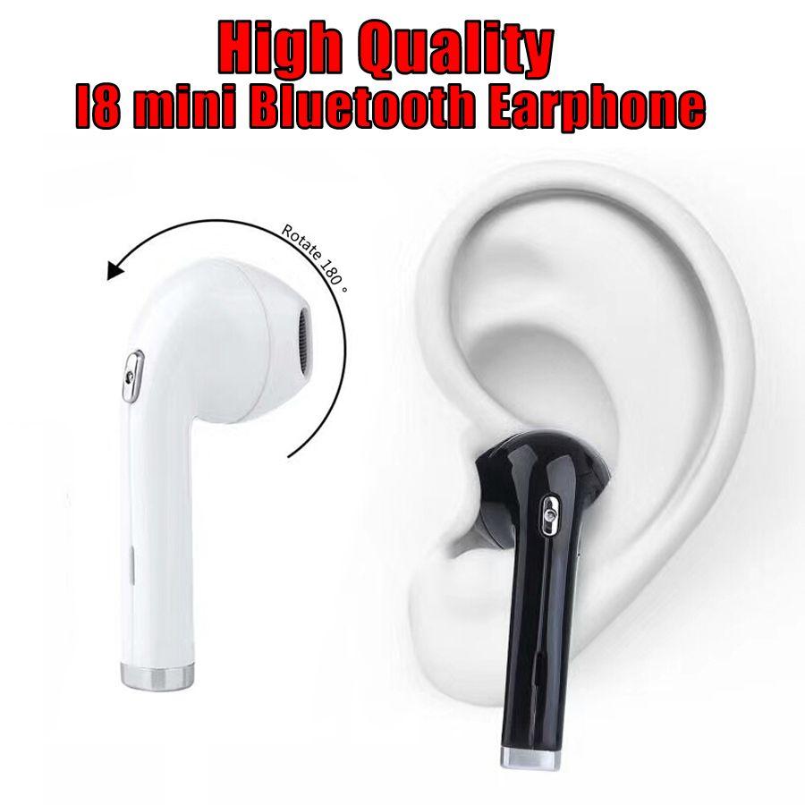 eae49ca77f8 High Quality I8 Mini Wireless Bluetooth Earphone Earbuds Earphones V4.1 +  EDR 180 Degree Rotation Stereo Headset Retail Box 1pc