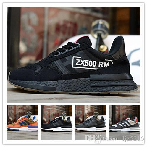bc222da08c048 2018 New ZX 500 RM Goku Men ZX500 OG The Dragon Ball Z Grey Casual Shoes  Size 36 45 Loafers For Men Red Shoes From Ljz5216