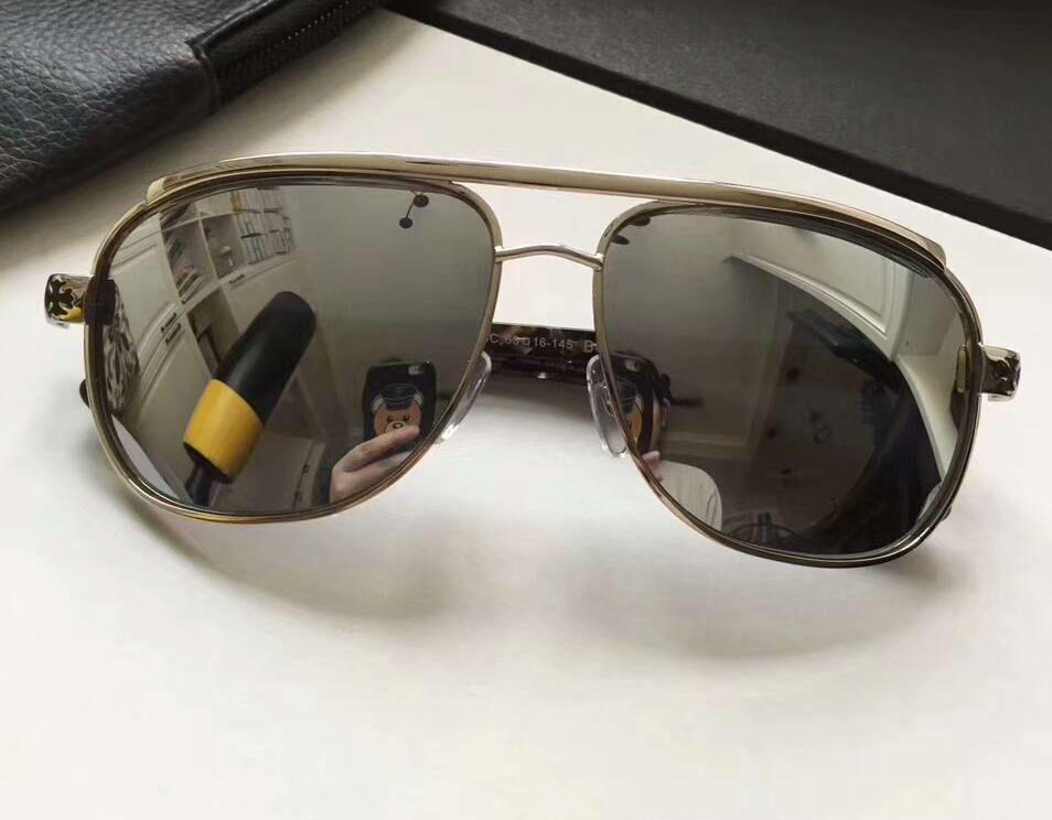 Großhandel Mens Vintage Pilot Sonnenbrille Silber / Silber Lens ...