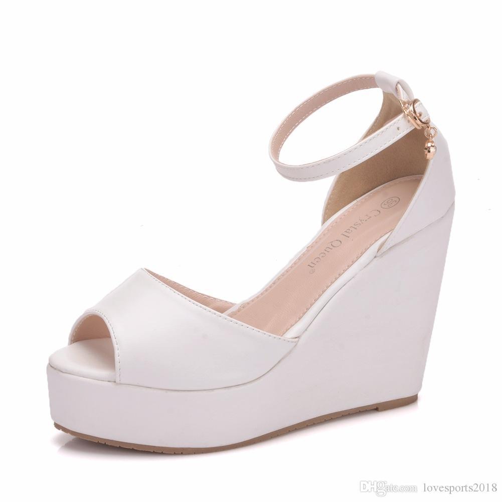 6fd932eae800 New Bohemia Style Peep Toe Shoes For Women Hemp Rope Wedge Heels Fashion  Platform Beading Wedding Shoes Wedge Heels Plus Size Bridal Sandals Dress  Shoes ...