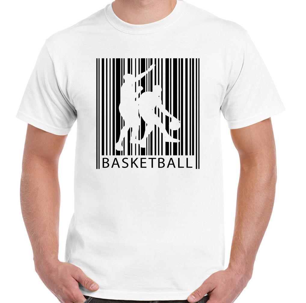 Basketball Barcode Mens Funny T Shirt Player Court Ball Net Top Mens Funny  T Shirts Buy Shirts From Lijian041 00722fb004bd6
