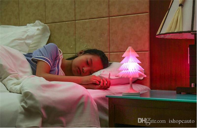 Noel ağacı ışıkları, Destek Bırak Gemi Şarj Yaratıcı Hediyeler Garip Noel Renkli Gece ışık Mini Dokunmatik LED Masa lambası USB