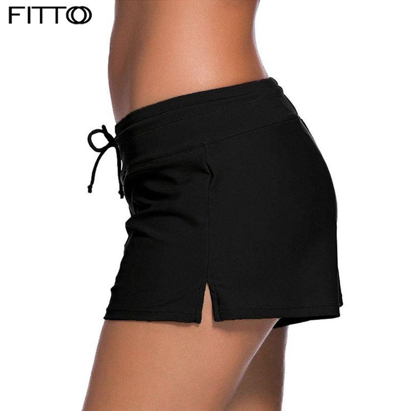 20ac57548a13e1 Plus la taille 3XL Sexy Femmes Brésiliens Tankini Bas Taille Big Maillots  De Bain Nager Sport bikini Shorts Maillot De Bain Femme Noir Beach Wear
