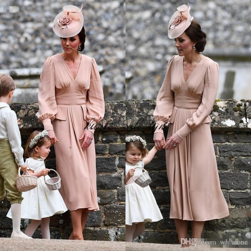 Grosshandel Kate Middleton Einfache Chiffon Mutter Der Braut Kleid