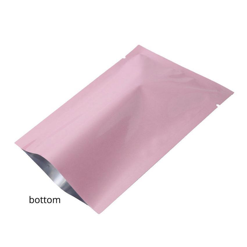 Renkli Isı Mühür Alüminyum folyo çanta Mylar Folyo çanta Kokusu Proof Kılıfı açık Üst Ambalaj Çanta Kahve Çay Kozmetik Örnek GGA107 1000 ADET