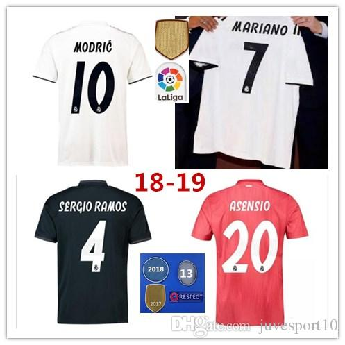 New ASENSIO Soccer Jersey 2018 2019 Real Madrid Home Away 3rd Football  Shirt RAMOS MARIANO BALE MODRIC Kroos Marcelo ISCO Football Jeresys UK 2019  From ... 9b332067b